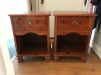 Sturdy chest of drawers and two bedside tables (collection only)