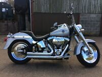 Showroom Harley fat boy mot July new rear tyre and brakes and major service at Edinburgh Harley