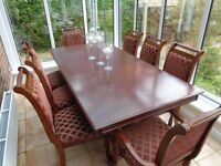 8 Seater Dining Table & Chairs