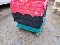 Heavy Duty Trolleys, Plastic Storage Box Trolleys 60cm x 40cm