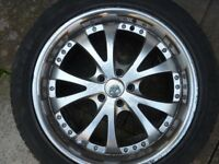 "Aerotechnik 20"" Alloy wheels and Tyres in need of Refurbishment"