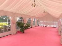 Zia marquee Hire mehndi stage house lighting . Tent hire ,chivari chairs
