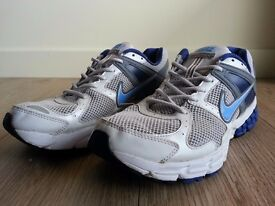 Nike Structure 14 Fitsole Trainers/Shoes Size UK 8.5 EU 43 White Used Gym Running £15