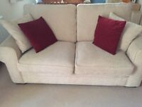 Two seater sofa bed with wooden sprung slats in very good condition