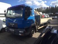 M A N 7.5 tonne Hiab lorry