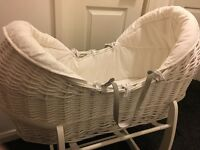Mamas and papas Welcome to the world Moses basket and stand