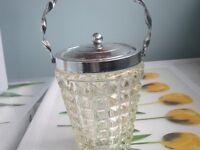 Vintage glass jar.