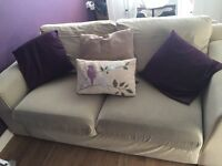 Marks and Spencer cream two seater sofa