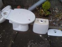 Toilet,sink and pedestal