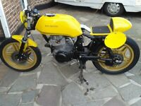 CB400N 1981 Race or Track day , rebuilt lots of new bits .