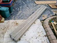 3 x 8ft slotted intermediate concrete posts