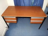 Wooden Office Desk - Four Drawer - Collection only from NR2