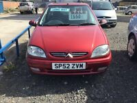 Citroen Saxo desire Red | 82416 miles | Manual | 1.2L | Petrol