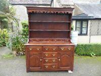 Solid oak dresser antique style