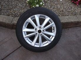 New Nissan Qashqai Alloy Wheel Never been on car brand new has winter tyre fitted size 215/60/17