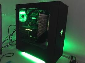 Custom built gaming pc, BenQ monitor