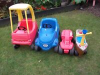 Little Tikes Cozy Coupe Car / Blue Car / Red Car / Pirate Ship
