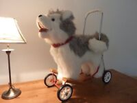 Push Along Husky Dog Baby Walker - Gorgeous Condition