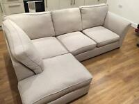 Like NEW Corner Sofa Bed & Ottoman Foot Rest RRP £2k + (free pillows)