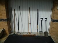 Assorted garden tools - to be sold together - all in very good condition.