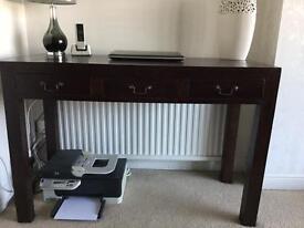 Dark Wood Console Table/Desk