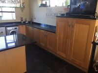 Oak Panelled Shaker Kitchen. 10 year old. Excellent condition