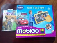 Vtech MobiGo Console Touch Learning System & 2 Games box