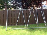 Galvanised Football posts (pair)