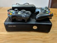 Microsoft Xbox 360 4GB, with Two Controllers AND Ultra Street Fighter game (12+) included.