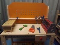 Childrens toy work bench
