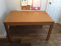 John Lewis Soild Oak Veneer Dining Table