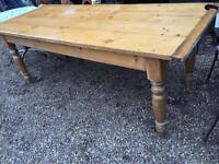 OLD FARM PINE TABLE