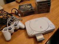 PlayStation 1 console PSone with games bundle