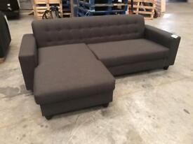 Brand new grey corner chaise sofa
