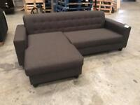 Brand new grey corner chaise sofa