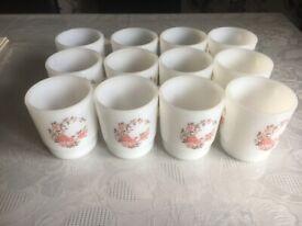 Vintage Pyrex Beautiful Design Coffee Mugs/Cups Set of 12