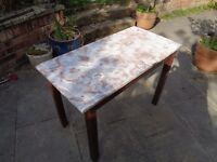 MARBLE TOP TABLE MAIDSTONE £55