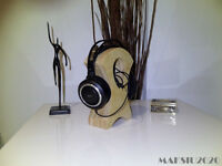Headphones stand Holder Rack Hanger wood birch