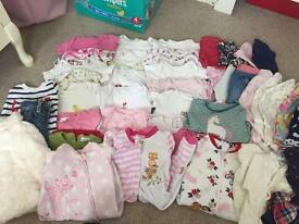 Bundle of girls clothes 3-6months