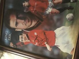 Eric cantona signed picture