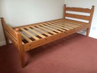 Two single pine beds can be made into bunk bed. In excellent condition.