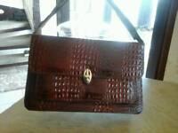 Genuine real leather crocodile handbag