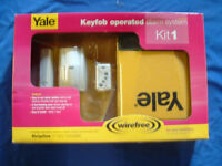 YALE wireless key fob operated ALARM SYSTEM ( kit one ) BRAND NEW !! STILL IN BOX see pics !!!