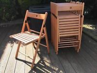 Ikea Terje wooden chairs (x8)