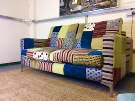 Designer Guild Style Patchwork 3 seater sofa