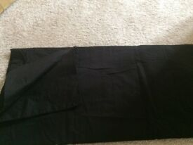 Dorma black cotton 2 pairs of Housewife and Oxford pillowcases
