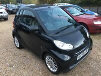 2009 SMART FORTWO 1.0 PASSION AUTOMATIC BLACK CABRIOLET CONVERTIBLE LOW MILEAGE