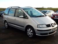 2003 seat alhambra 1.9 tdi s only 88000 miles motd nov 2017 tidy example all cards welcome