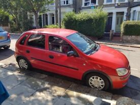 Red 2004 Vauxhall Corsa for sale