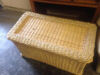 LARGE OTTOMAN / LAUNDRY BASKET ,SLIGHT DAMAGE ,STILL VERY USABLE ,FREE LOCAL DELIVERY 07486933766